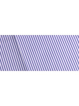 Signature Blue Striped Cotton Shirt