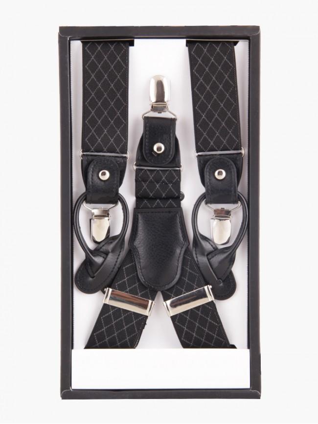 Signature Criss-Cross Black Suspender