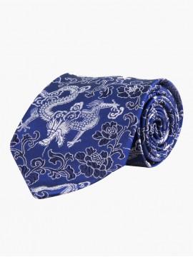 Azure Floral Spiel Tie