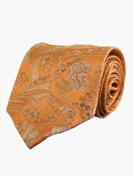 Ochre Florid Orange Base Tie