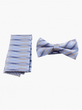 Blue Haze Pocket Square-Bow Tie Set